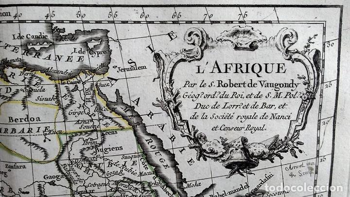 Arte: Mapa de África, 1778. Robert Vaugondy/Delacroix/Delamarche - Foto 2 - 120191483