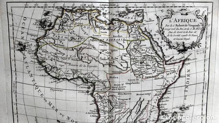 Arte: Mapa de África, 1778. Robert Vaugondy/Delacroix/Delamarche - Foto 3 - 120191483