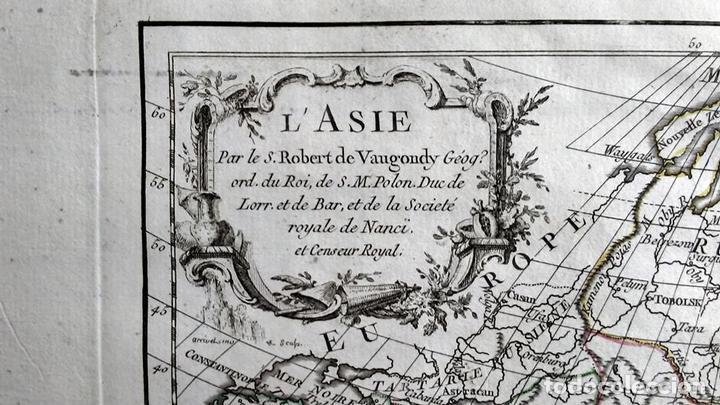 Arte: Mapa de Asia, 1778. Robert Vaugondy/Delacroix/Delamarche - Foto 2 - 120191975