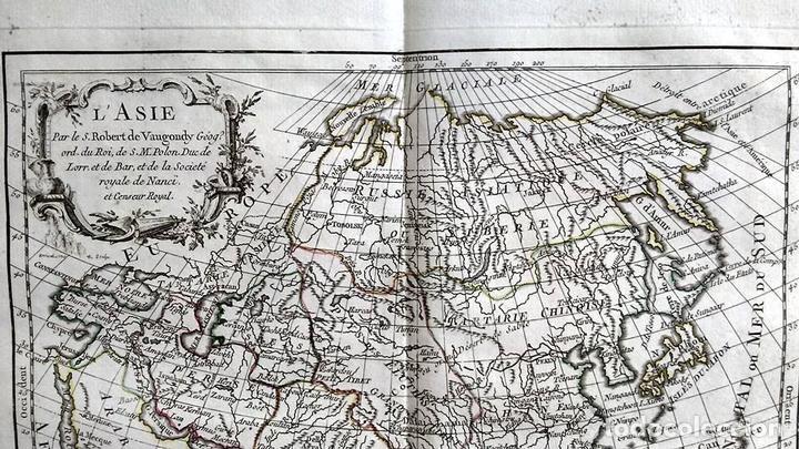 Arte: Mapa de Asia, 1778. Robert Vaugondy/Delacroix/Delamarche - Foto 3 - 120191975