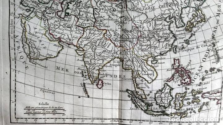 Arte: Mapa de Asia, 1778. Robert Vaugondy/Delacroix/Delamarche - Foto 4 - 120191975