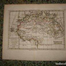 Arte: MAPA DEL NORTE Y CENTRO DE ÁFRICA, 1795. LAMARCHE. Lote 120390583