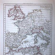 Arte: MAPA DEL IMPERIO ROMANO EUROPA OCCIDENTAL, 1804. POIRSON/TARDIEU. Lote 120390879