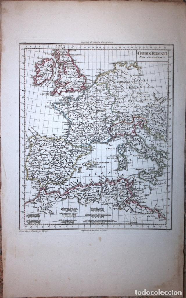 Arte: Mapa del Imperio Romano Europa Occidental, 1804. Poirson/Tardieu - Foto 2 - 120390879