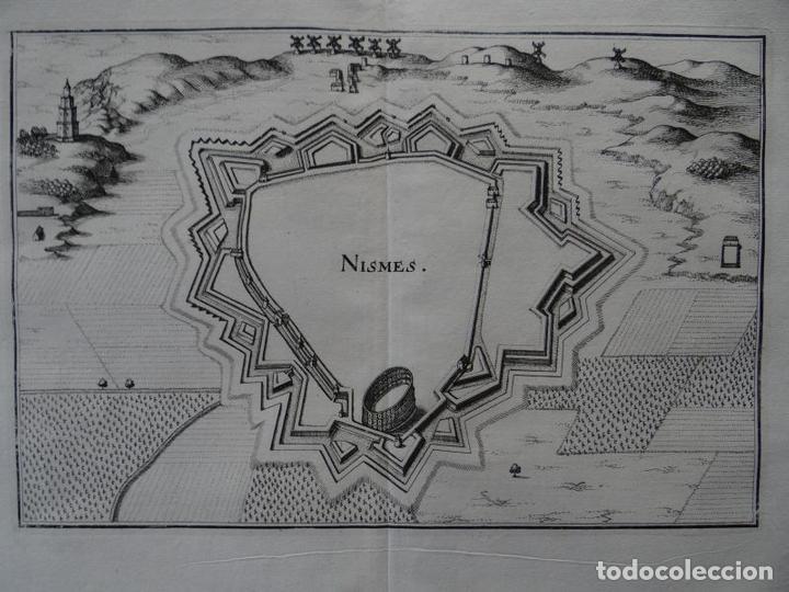 MAPA DE LA CIUDAD DE NIMES (FRANCIA), 1690. CRISTOPH RIEGEL (Arte - Cartografía Antigua (hasta S. XIX))