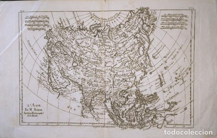 MAPA ANTIGUO ASIA AÑO 1780 CON CERTIFICADO AUTENTICIDAD. MAPAS ANTIGUOS ASIA CONTINENTE (Arte - Cartografía Antigua (hasta S. XIX))