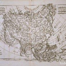 Arte: MAPA ANTIGUO ASIA AÑO 1780 CON CERTIFICADO AUTENTICIDAD. MAPAS ANTIGUOS ASIA CONTINENTE. Lote 53252906