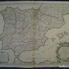 Arte: GRAN MAPA DE ESPAÑA Y PORTUGAL, 1690. JAILLOT/SANSON. Lote 120950623