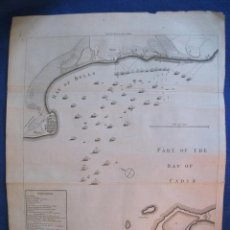 Arte: MAPA DE LA BAHÍA DE CÁDIZ (ESPAÑA), 1787. RAPIN/TINDAL. Lote 121061279