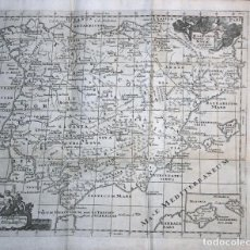 Arte: ANTIGUO MAPA DE ESPAÑA Y PORTUGAL, 1711. BUNONE/CLÜVER/NICHOLSONI. Lote 121064387
