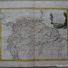 Arte: MAPA DEL NORTE DE AMÉRICA DEL SU, 1785. ANTONIO ZATTA. Lote 121066975