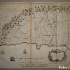 Arte: MAPA DEL PUERTO DE TARRAGONA (ESPAÑA), 1747. BASIRE/ TINDAL Y RAPIN. Lote 121155043