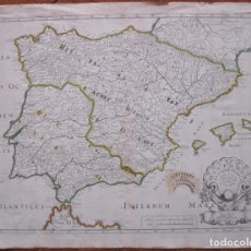 Arte: MAPA DE ESPAÑA ANTIGUA Y PORTUGAL, 1704. SANSON. Lote 121170275