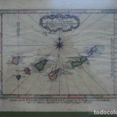 Arte: MAGNIFICO MAPA ANTIGUO ISLAS CANARIAS 1746 N. BELLIN INGENIERO DE MARINA ENMARCADO LUJO. Lote 121474127