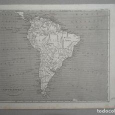 Arte: MAPA DE AMÉRICA DEL SUR, CIRCA 1850,. BROMME. Lote 121580683