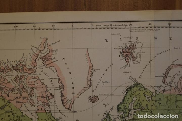 Arte: Mapa de la vegetación en el Mundo, 1866. Perthes - Foto 11 - 121855163