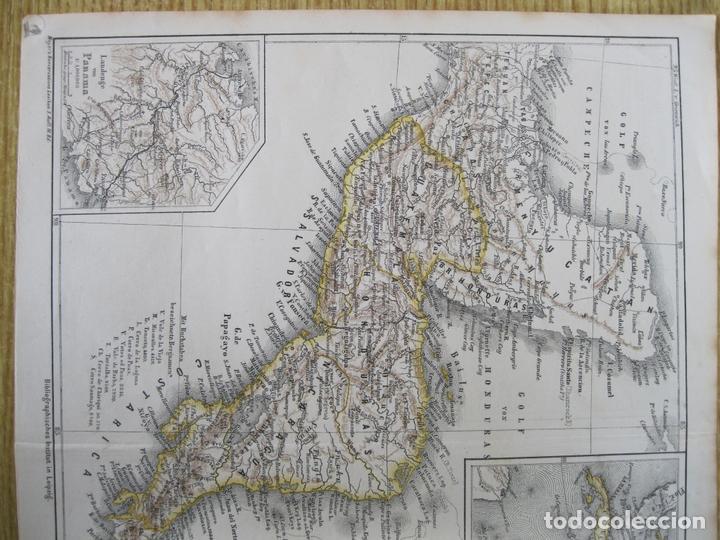 Arte: Mapa de México (América central), 1875. Meyers - Foto 3 - 121870143