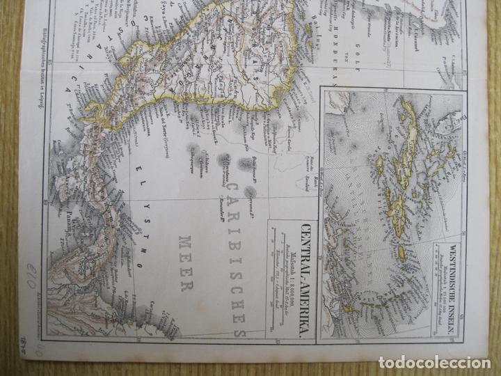 Arte: Mapa de México (América central), 1875. Meyers - Foto 4 - 121870143