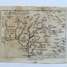 Arte: MAPA DE ANDALUCIA - AÑO 1585 - . Lote 122187083