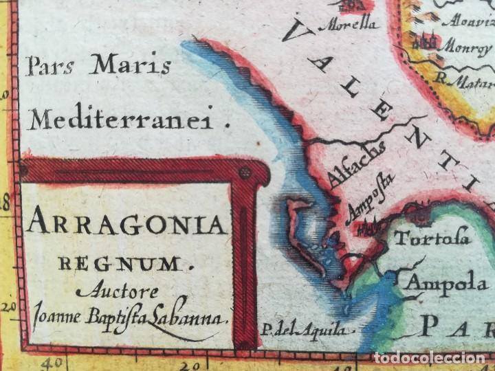 Arte: MAPA REINO DE ARAGON - AÑO 1651 - ORIGINAL - Foto 2 - 122208315