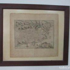 Arte: MAPA DE PALAMÓS Y GERONA, CATALUÑA, CATALUNYA, CATALONIA - GRABADO ALEMÁN - AÑO 1702 - MUY RARO. Lote 122338775