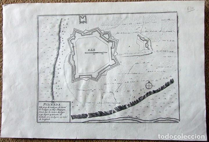 MAPA DE LA FORTALEZA DE PUIGCERDÁ EN GERONA (CATALUÑA, ESPAÑA), 1695. NICOLÁS DE FER (Arte - Cartografía Antigua (hasta S. XIX))