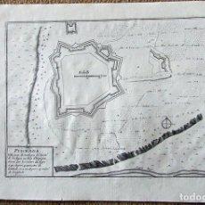 Arte: MAPA DE LA FORTALEZA DE PUIGCERDÁ EN GERONA (CATALUÑA, ESPAÑA), 1695. NICOLÁS DE FER. Lote 122459295