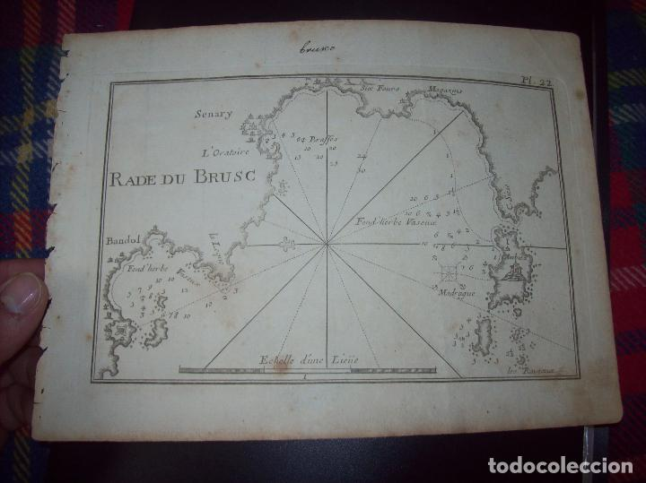 MAPA ANTIGUO S. XVIII EN PAPEL VERJURADO DE RADE DU BRUSC. 17,5 CM X 23,5 CM .UNA JOYA!!!! (Arte - Cartografía Antigua (hasta S. XIX))