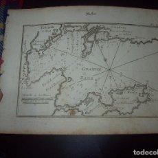 Arte: MAPA ANTIGUO S. XVIII EN PAPEL VERJURADO DE TOVLON.GRANDE RADE. 17,5 CM X 23,5 CM .UNA JOYA!. Lote 122493327