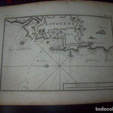Arte: MAPA ANTIGUO S. XVIII EN PAPEL VERJURADO DE LIVOURNE . 17,5 CM X 23,5 CM .UNA JOYA!. Lote 122493415