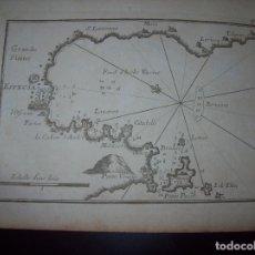 Arte: MAPA ANTIGUO S. XVIII EN PAPEL VERJURADO DE GRANDE PLAINE. ESPECIA . 17,5 CM X 23,5 CM .UNA JOYA!. Lote 122493423