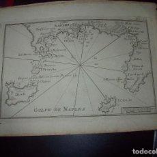 Arte: MAPA ANTIGUO S. XVIII EN PAPEL VERJURADO DE GOLFE DE NAPLES. 17,5 CM X 23,5 CM .UNA JOYA!. Lote 122493467