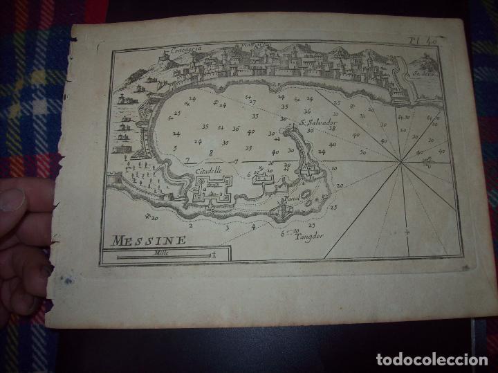 MAPA ANTIGUO S. XVIII EN PAPEL VERJURADO DE MESSINE. 17,5 CM X 23,5 CM . UNA JOYA!!!! (Arte - Cartografía Antigua (hasta S. XIX))
