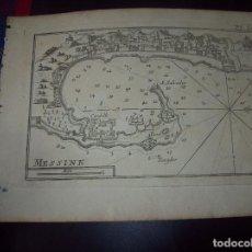 Arte: MAPA ANTIGUO S. XVIII EN PAPEL VERJURADO DE MESSINE. 17,5 CM X 23,5 CM . UNA JOYA!!!!. Lote 122493567