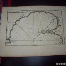 Arte: MAPA ANTIGUO S. XVIII EN PAPEL VERJURADO DE SICILIA. AUGUSTA. 17,5 CM X 23,5 CM . UNA JOYA!!!. Lote 274543828