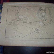 Arte: MAPA ANTIGUO S. XVIII EN PAPEL VERJURADO DE VILLAGE DE LA PANPOSE .17,5 CM X 23,5 CM. UNA JOYA!!!. Lote 122560791