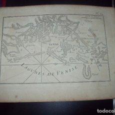 Arte: MAPA ANTIGUO S. XVIII EN PAPEL VERJURADO DE LAGUNES DE VENISE . 17,5 CM X 23,5 CM .UNA JOYA!!. Lote 122561027