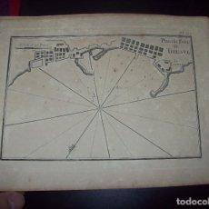 Arte: MAPA ANTIGUO S. XVIII EN PAPEL VERJURADO DE PLANO DU PORT DE TRIESTE. 17,5 CM X 23,5 CM .UNA JOYA!!. Lote 122561299