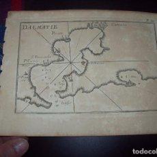 Arte: MAPA ANTIGUO S. XVIII EN PAPEL VERJURADO DE DALMATIE. 17,5 CM X 23,5 CM . UNA JOYA!!!!. Lote 122561831
