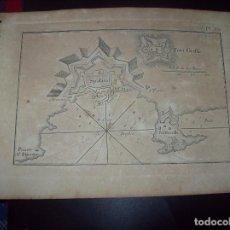 Arte: MAPA ANTIGUO S. XVIII EN PAPEL VERJURADO DE SPALATO. FORT GRIFFE 17,5 CM X 23,5 CM . UNA JOYA!!!!. Lote 122562035