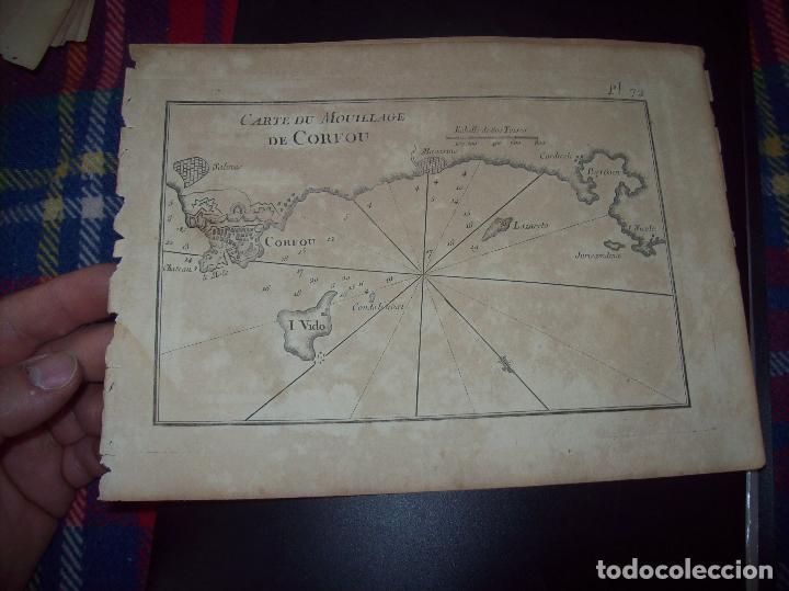 MAPA ANTIGUO S. XVIII EN PAPEL VERJURADO DE CARTE DU MOULILLAGE DE CORFOU. 17,5 CM X 23,5 CM (Arte - Cartografía Antigua (hasta S. XIX))