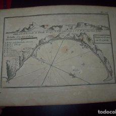 Arte: MAPA ANTIGUO S. XVIII EN PAPEL VERJURADO DE VILLE ET PORT DE ZANTE. 17,5 CM X 23,5 CM. UNA JOYA!!!!. Lote 122563039