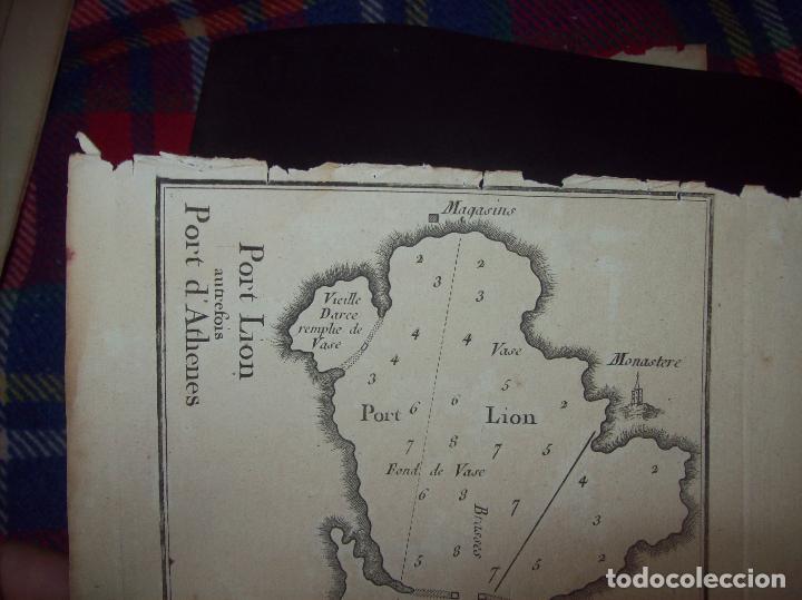 Arte: MAPA ANTIGUO S. XVIII EN PAPEL VERJURADO DE PORT LION PORT D ATHENES. 23,5 CM X 17,5 CM. UNA JOYA!! - Foto 2 - 122564071