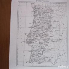 Arte: MAPA DE PORTUGAL, CIRCA, 1880. ANÓNIMO. Lote 122577291
