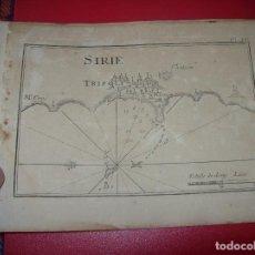 Arte: MAPA ANTIGUO S. XVIII EN PAPEL VERJURADO DE SIRIE. TRIPOLI. . 17,5 CM X 23,5 CM .UNA JOYA!!!. Lote 122627427
