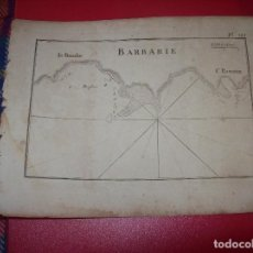 Arte: MAPA ANTIGUO S. XVIII EN PAPEL VERJURADO DE BARBARIE. LA BOMBE. C. RAZATIN . 17,5 CM X 23,5 CM .. Lote 122627531