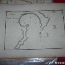 Arte: MAPA ANTIGUO S. XVIII EN PAPEL VERJURADO DE PORT DE SERFANTO . 17,5 CM X 23,5 CM . UNA JOYA!!. Lote 122627787