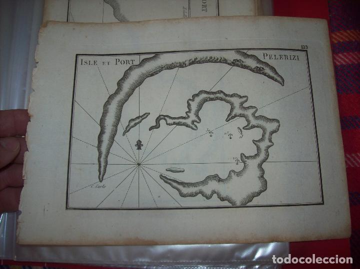 MAPA ANTIGUO S. XVIII EN PAPEL VERJURADO DE ISLE ET PORT PELERIZI. 17,5 CM X 23,5 CM . UNA JOYA!!! (Arte - Cartografía Antigua (hasta S. XIX))