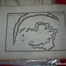 Arte: MAPA ANTIGUO S. XVIII EN PAPEL VERJURADO DE ISLE ET PORT PELERIZI. 17,5 CM X 23,5 CM . UNA JOYA!!!. Lote 122627855