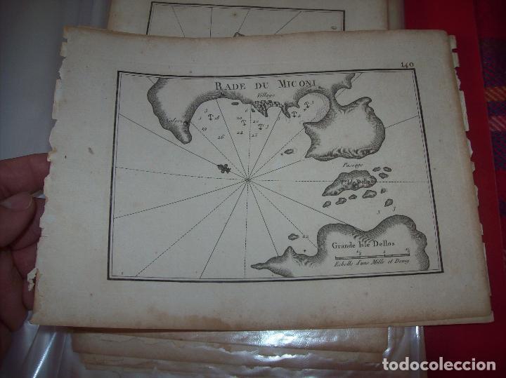MAPA ANTIGUO S. XVIII EN PAPEL VERJURADO DE RADE DU MICONI . 17,5 CM X 23,5 CM . UNA JOYA!!! (Arte - Cartografía Antigua (hasta S. XIX))